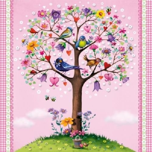 4 x Paper Napkins - Love Tree - Ideal for Decoupage / Napkin Art CraftyThings