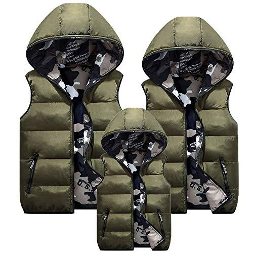 paisseur Manches Poches Matelass clair Casual Hiver Young lgant Duvet Gilet Vest Gilet Femme Armeegrn sans Gilet en Mode Capuchon Warm Styles Automne Jacken avec Fermeture RX6q4U