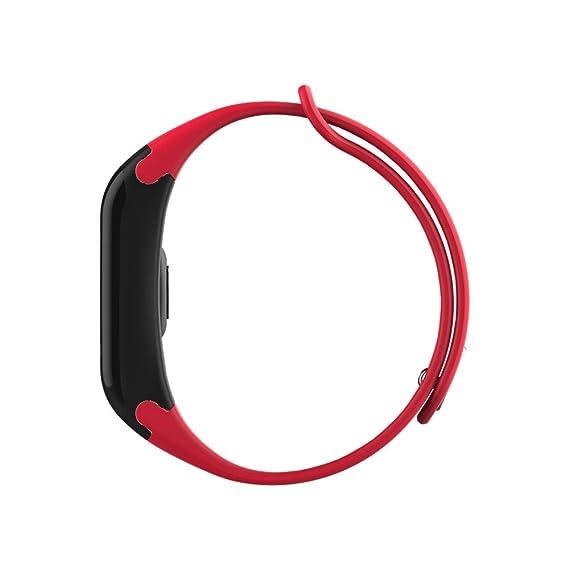 SoloKing Versión Mejorada F1 Pulsera Actividad Pantalla Color con Pulsómetros,Podómetro,Llamadas/Mensajes Alertas(Rojo): Amazon.es: Electrónica