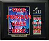 Super Bowl LII Program & Ticket Holder Frame, Black Frame - Super Bowl 52