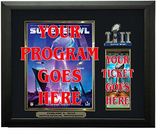 Super Bowl LII Program & Ticket Holder Frame, Black Frame - Super Bowl 52