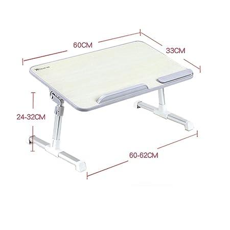 WJQSD Ordenador portátil de mesa Escritorio de cama, mesa pequeña ...
