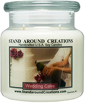 Premium 100% Soy Apothecary Candle - 16 oz Double Wicked- Wedding Cake - A decadent blend of moist vanilla cake, cane sugar and creamy white frosting.