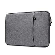"""NIDOO 13"""" 13.3"""" Classic Notebook Laptop Sleeve Case Bag Pouch Waterproof Skin Cover for 13.5"""" Microsoft Surface Book 13 inch MacBook Pro (Dark Gray)"""