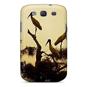 Cute High Quality Galaxy S3 Bird Wood Stork Sepia Case