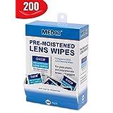 MEDca Lens Cleaning Wipes Towelette Dispenser Pre-Moistened (200)