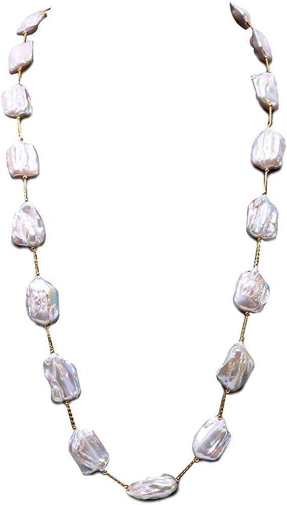 jyx blanco barroco agua dulce collar de perlas