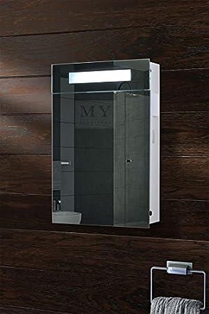 My Furniture Placard Miroir Eclaire Pour Salle De Bain Ip44 Avec