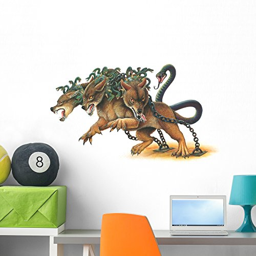 Chained Cerberus Monster Wall Decal by Wallmonkeys Peel and Stick Graphic (36 in W x 21 in H) WM106337 ()