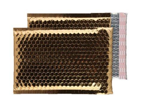 Purely Packaging - Buste imbottite con chiusura adesiva, formato C5+, 250 x 180 mm, confezione da 100 pezzi, colore: oro metallizzato Blake Envelopes MBGOL250
