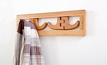 Estantes de pared Bambú creativo porche capa de gancho de la ...