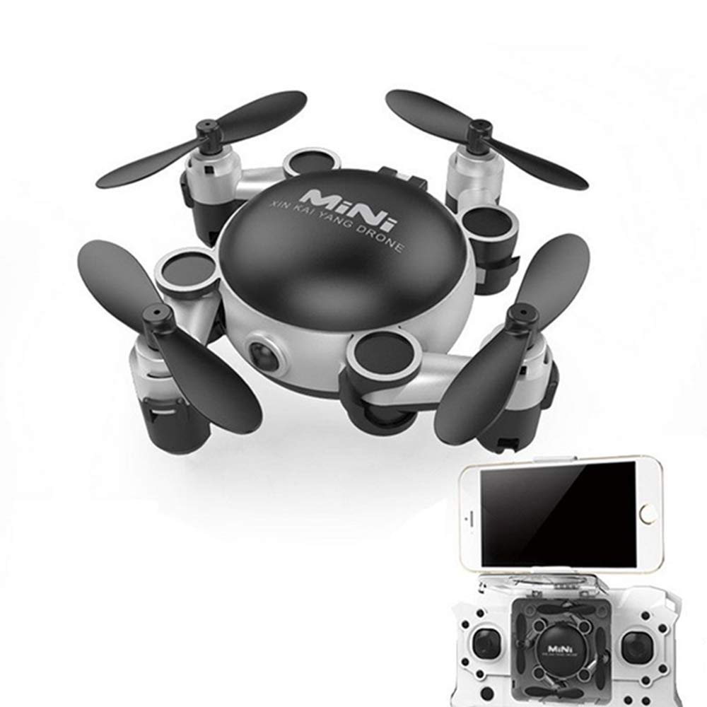 Xianxian88 Foldable mini FPV remote drone, HD camera drone, 360° omnidirectional flip onebutton return pneumatic constant height, adjustable wideangle drone