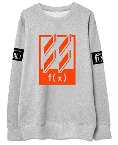 Z&T F(x) 4WALLS Vitoria Krystal Fleece Sweater Shirt (Grey, M) -  Keith's Factory