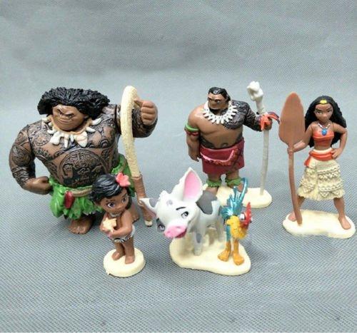 gg 6Pcs Set M oana Action Figures Doll Kids Children Figurines Toy Cake Topper Decor
