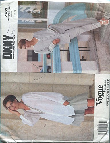 - Vogue American Designer DKNY Sewing Pattern 2703 Sizes 6-8-10 Misses' Jacket, Shirt, Shorts and Pants