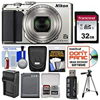 Nikon Coolpix A900 Camera (Silver) with 32GB Card + Case + Battery/Charger + Tripod Kit (Certified Refurbished)
