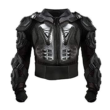 Motorcycle Full Body Armor Protective Jacket ATV Guard Shirt Gear Jacket Armor Pro Street Motocross Protector with Back Protection Men Women for Off-Road Racing Dirt Bike Skiing Skating Black M
