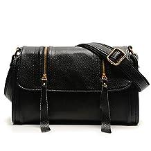Niktest Women's Soft Surface Diagonal Leather Shoulder Cross Boby Bags
