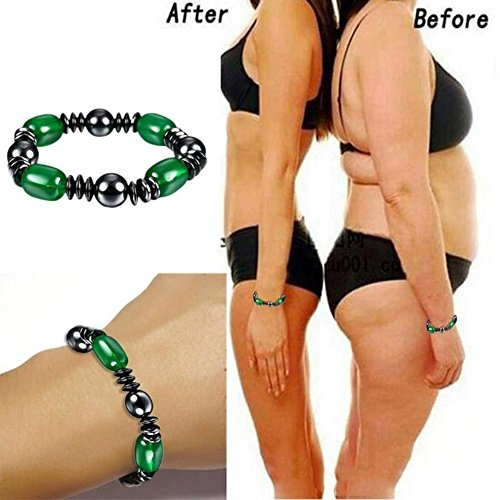 Weight Loss Black Stone Magnetic Therapy Bracelet Health Care Biomagnetism by AlexGT (Image #1)