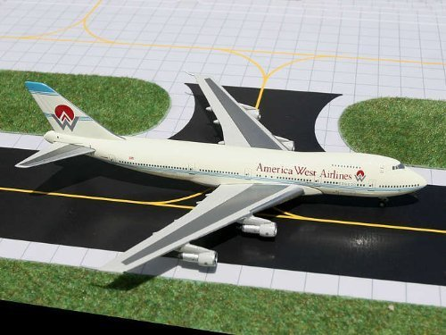 Gemini Jets GJAWE099 America West Airlines Boeing 747-200 1:400 Diecast Model by Gemini Jets (West Gemini America Airlines)