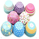 Cupcake Cases, gloednApple Mini Multi-colour Fairy Cake Cup Baking Cupcake Liners Muffin Dessert Party Wedding Color Random