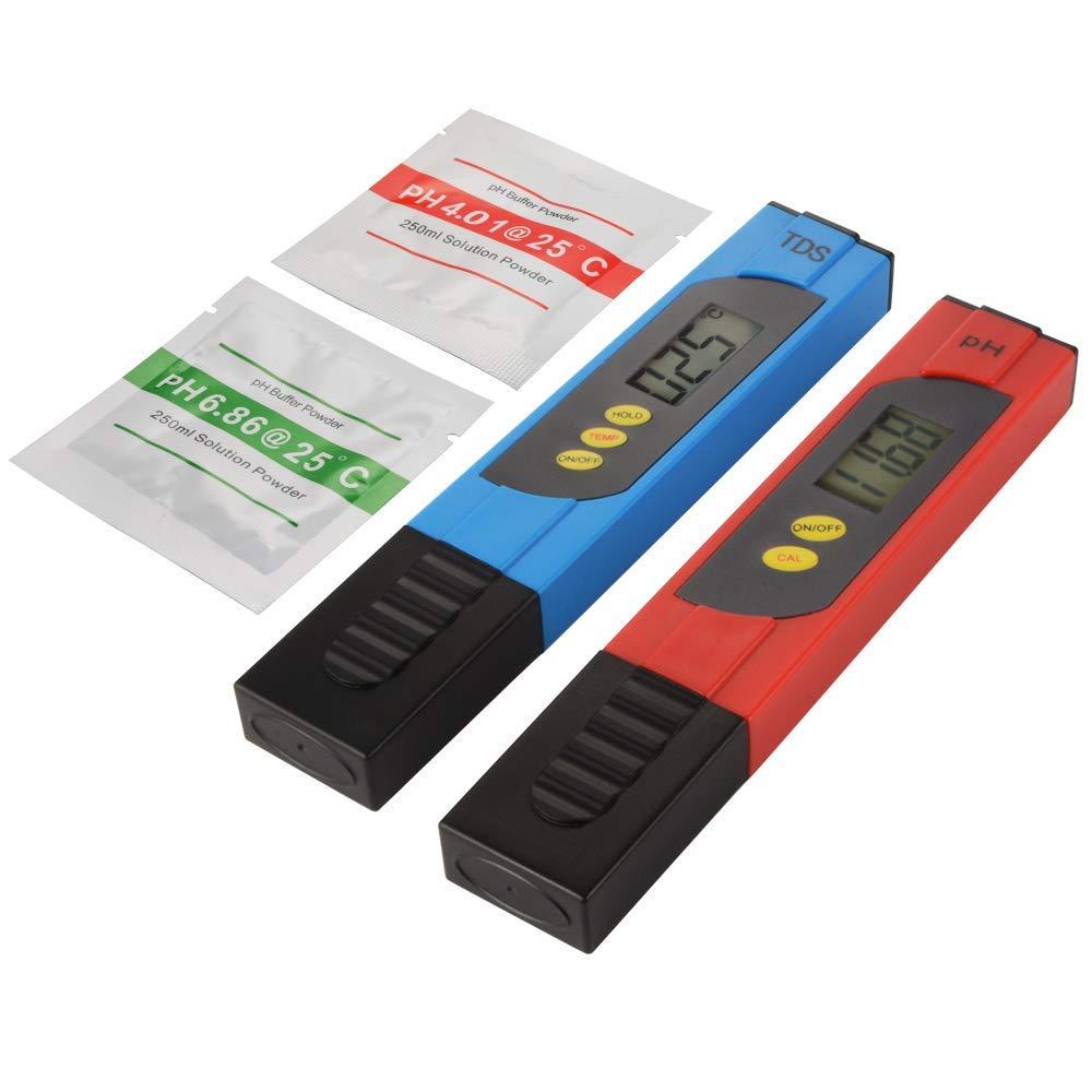 LCD Portatile TDS Monitor di purezza della qualit/à dellAcqua Acquario Piscina Idroponica Tester per Acqua Misuratore di Prova della qualit/à dellAcqua