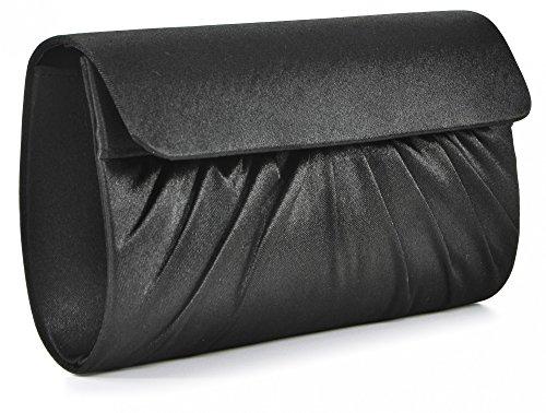 Bag D Evening 28x11x5 5 Bag Satin Bag BLACK x Design Clutch Vincent Shoulder cm W x H Perez 5aqFEE