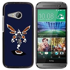 Be Good Phone Accessory // Dura Cáscara cubierta Protectora Caso Carcasa Funda de Protección para HTC ONE MINI 2 / M8 MINI // Abstract Dragonfly