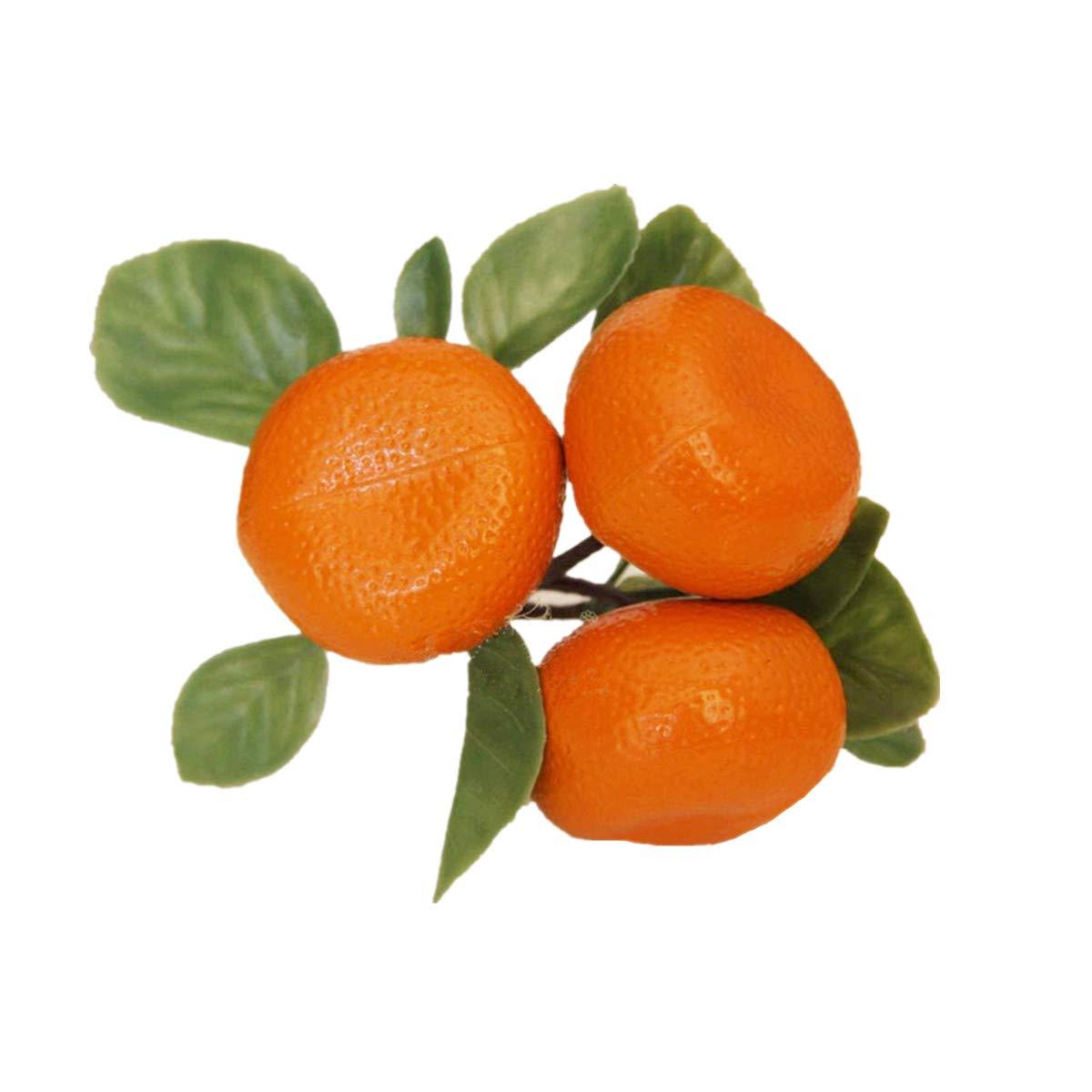 Amazon Com Xinfu Pack Of 3 Artificial Lifelike Tangerine Fake