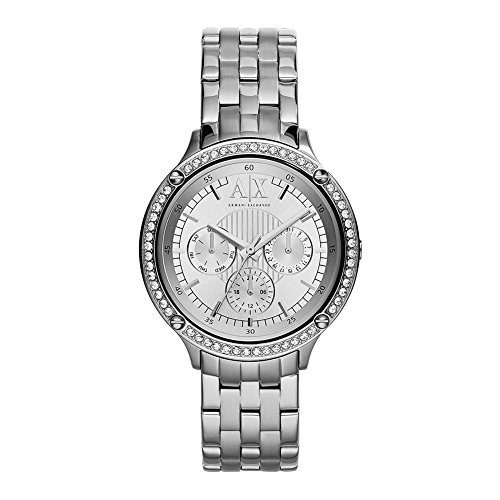 Armani Exchange Multi-Function White Dial Stainless Steel Unisex Watch AX5401