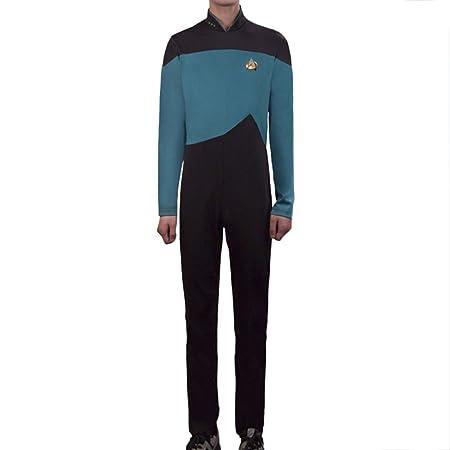 nihiug Star Trek Star TrekTNG Cosplay De Próxima Generación Mono Capitán Uniforme,Blue-XXL