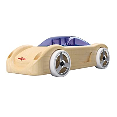 Automoblox Collectible Wood Toy Cars and Trucks—Mini C16 Sidewinder (Compatible with other Mini and Micro Series Vehicles): Toys & Games