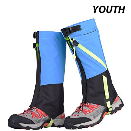 AMYIPO Unisex Snow Leg, Front Opening Design Gaiter, Hiking Boots Gaiters Waterproof Gaiters Ventilate Design, For Adult Youth