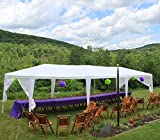 Quictent 10' x 30' Party Tent Gazebo Wedding Canopy BBQ Shelter Pavilion with Removable Sidewalls & Elegant Church