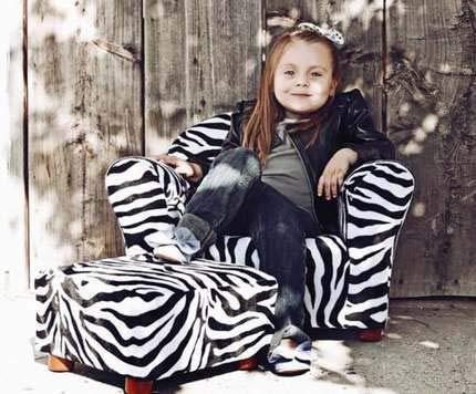 (Rocking Chair Glider Rocker Kids Recliner Zebra Print)