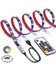 POWERXYZ Striscia Led luminosa RGB TV LED impermeabile IP65 2M RGB .30.000 ORE di vita con telecomando rf (RGB 2)