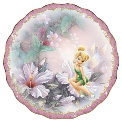 The Bradford Exchange Sitting Pretty Tinkerbell Garden Porcelain Collector's Plate By Lena Lena Liu