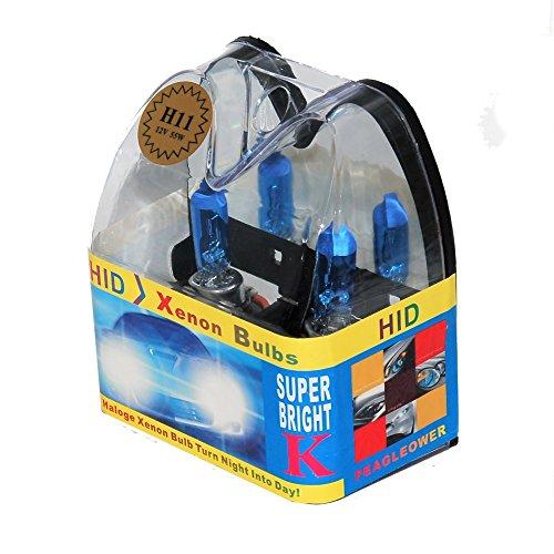 Super Bright Halogen H11 Cool Blue HID Xenon Headlight Bulbs 12V 55W (Xenon Blue Bulbs 55w)