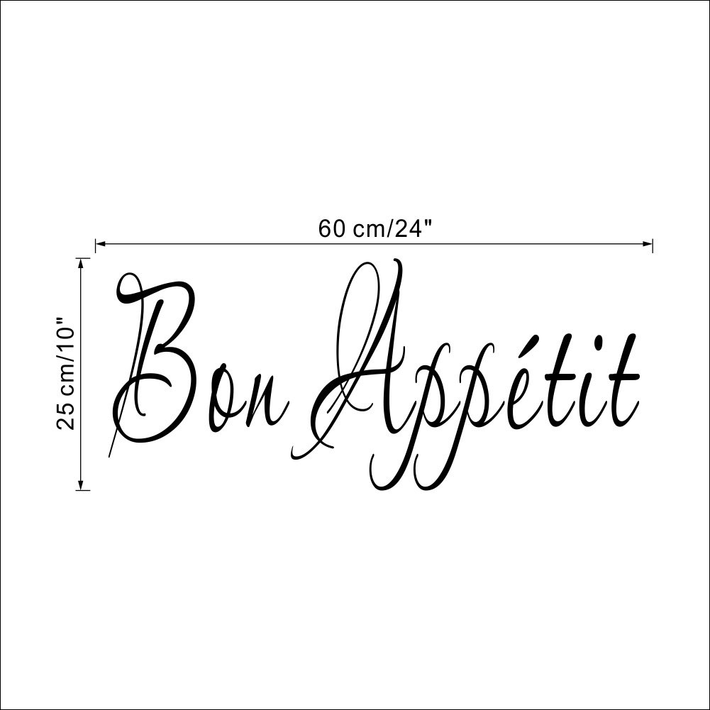 Amazon Com Fangeplus Tm Diy Removable French Bon Appetit Vinyl