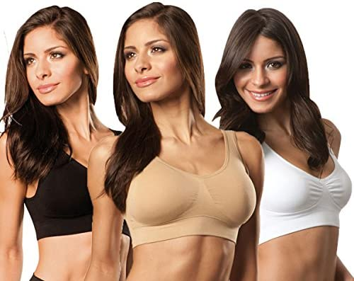 8697260f80 Amazon.com  Extreme Fit 3-Pack   Total Comfort Ahh Bras  Sports   Outdoors