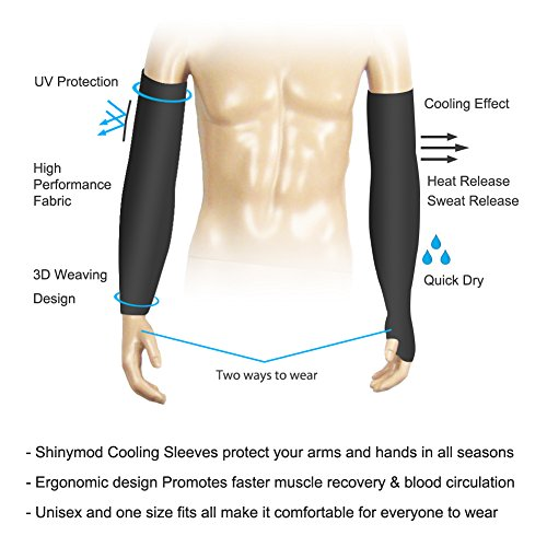 Shinymod Uv Protection Cooling Or Warmer Arm Sleeves For