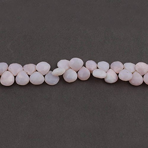 Big Halloween Sale 1 Strand Pink Opal Faceted Heart Briolettes - Pink Opal Heart Beads 12x12mm-13x12mm 7.5 inches ()