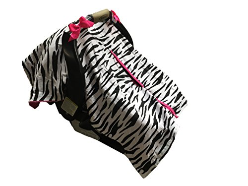 BayB Brand Car Seat Cover - Zebra and Hot Pink (Seat Covers Car Pink Baby Zebra)
