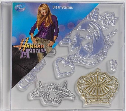Plaid Clear Stamps in Case, 912-84 Hannah Montana Girls Rock