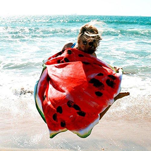 [해외]Fengzhicai 패션 라운드 수박 태피스 트리 비치 타월 비키니 커버 최대 피크닉 담요 요가 매트 식탁보 침대 커버 던져 커버/Fengzhicai Fashion Round Watermelon Tapestry Bea