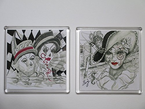 venice-carnival-magnetic-coaster-set-1-2-pc-set