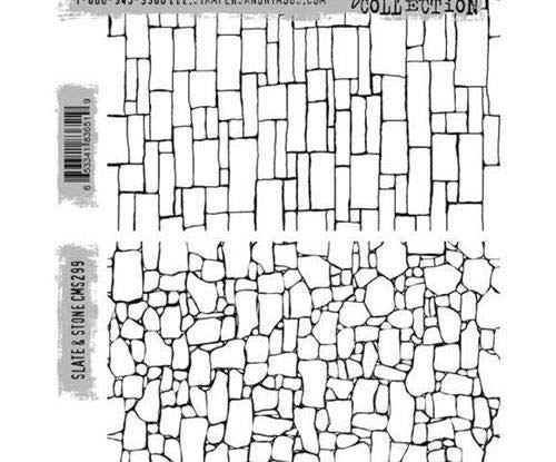 Stampers Anonymous Tim Holtz - Stones (2ks), Ranger, Rubber Cling, Stamps, Scrapbooking Paper