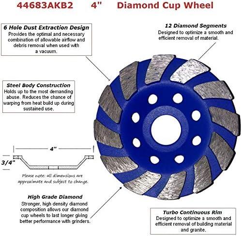 "4/"" Diamond Polishing Pads 18 Piece Grit 15-10K Granite Concrete masonry marble"