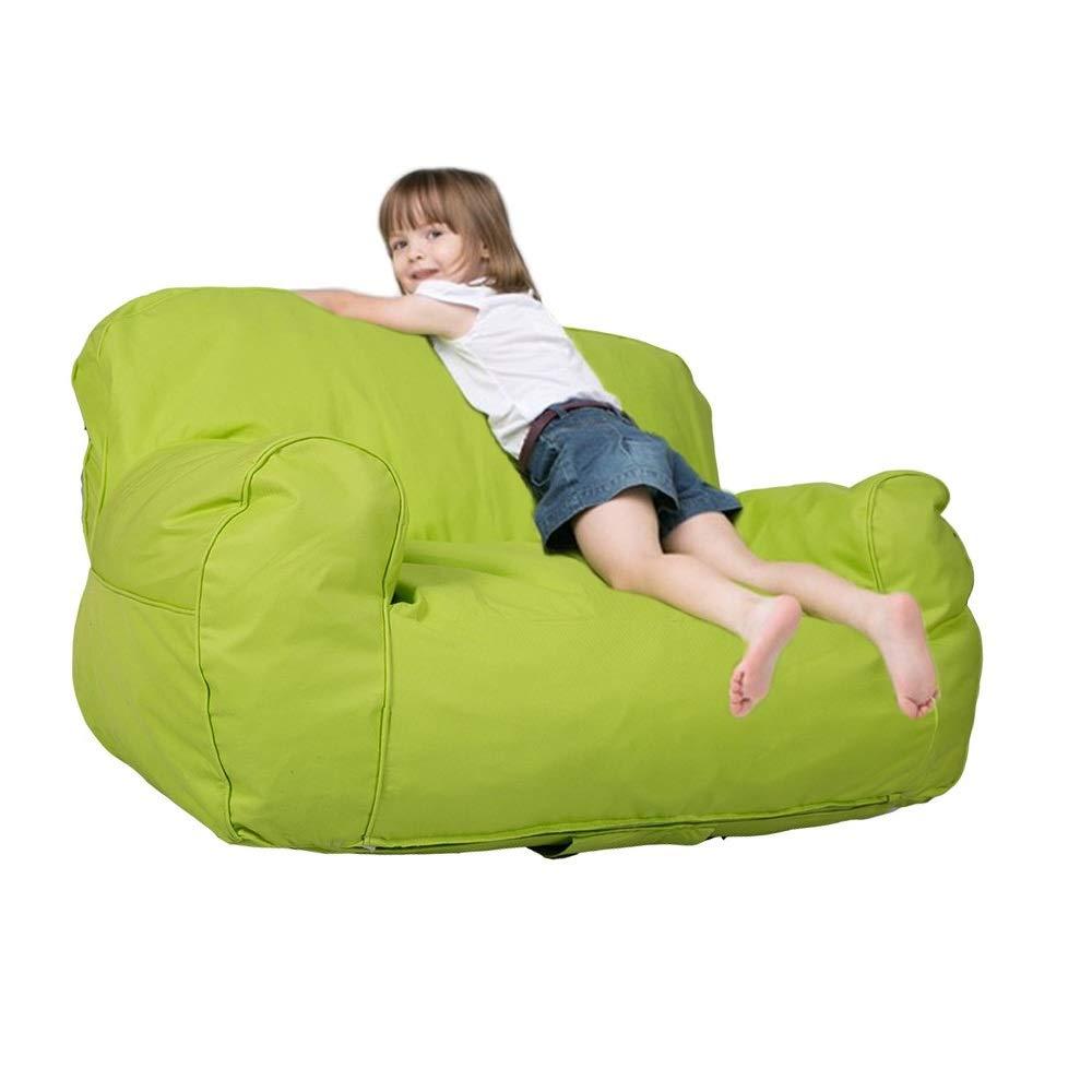 Dporticus Mini Lounger Sofa, Bean Bag Chair Self-Rebound Sponge Double Child Seat - 35.4'' x 19.7'' x 19.7'' Green