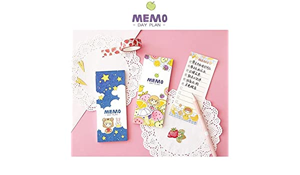 Amazon.com: 12 pcs/Lot Cute Girl Daily memo List Fruit ...
